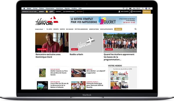 hebdo-des-savoie.com, conception et développement ProEdito
