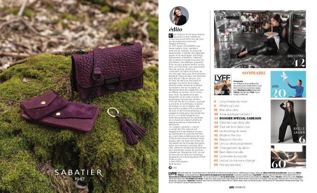 LYFE, magazine féminin lyonnais, conception maquette, conception formule presse