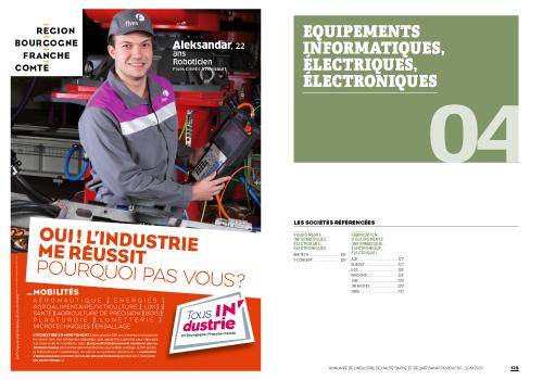 annuaire de l'industrie de Haute-Saône et de l'artisanat productif, mise en page automatique d'annuaires